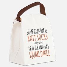 Cute Square dance Canvas Lunch Bag