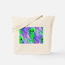 alien hologram Tote Bag