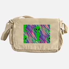 alien hologram Messenger Bag
