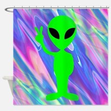 alien hologram Shower Curtain