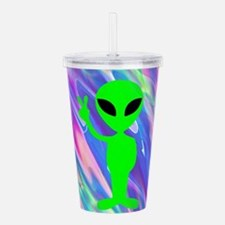 alien hologram Acrylic Double-wall Tumbler