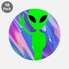 "alien hologram 3.5"" Button (10 pack)"