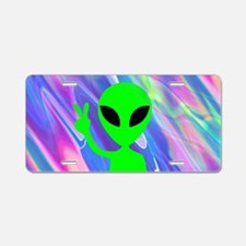 alien hologram Aluminum License Plate