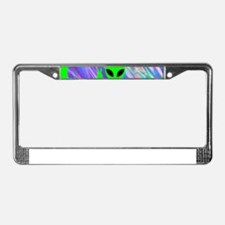 alien hologram License Plate Frame