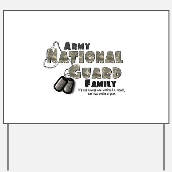 National Guard Family Yard Sign