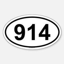 914 Oval Decal