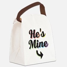 He's Mine - Gay Pride Canvas Lunch Bag