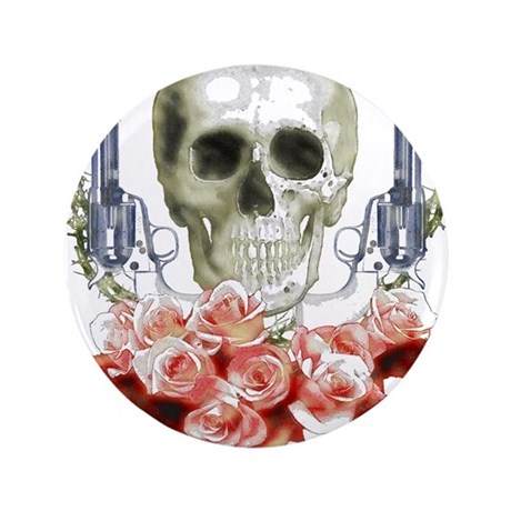 """Pistols, death and roses 3.5"""" Button"""