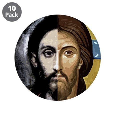 """MAN and GOD 3.5"""" Button (10 pack)"""