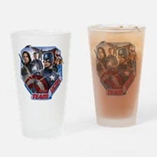 Team Captain America & Scarlet Wit Drinking Glass