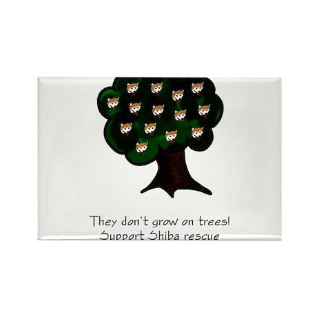 Shiba Tree Rectangle Magnet (10 pack)
