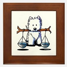KiniArt Westie LIBRA Framed Tile