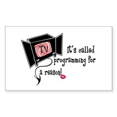 Evil TV! Rectangle Decal