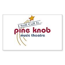 pine knob Rectangle Decal