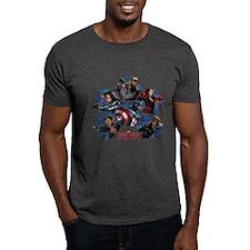 Team Cap Hexagons - Captain America: T-Shirt