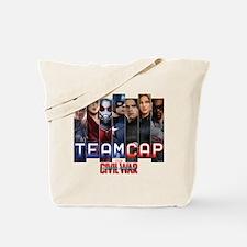 Team Cap & Scarlet Witch Stripes Tote Bag