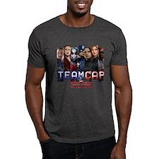Team Cap & Scarlet Witch Stripes T-Shirt