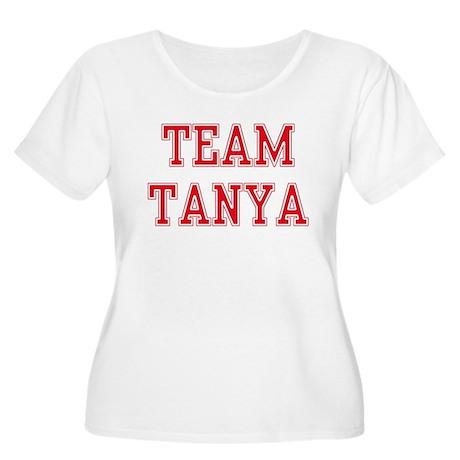 TEAM TANYA Women's Plus Size Scoop Neck T-Shirt