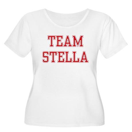 TEAM STELLA Women's Plus Size Scoop Neck T-Shirt