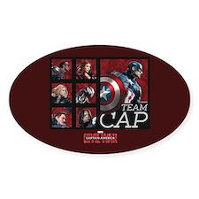 Team Cap Squares - Captain America: Decal
