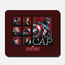 Team Cap Squares - Captain America: Civi Mousepad