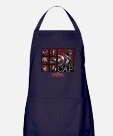 Team Cap Squares - Captain America: C Apron (dark)