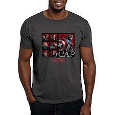 Team Cap Squares - Captain America: C T-Shirt