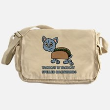 Tacocat is Tacocat spelled backwards Messenger Bag