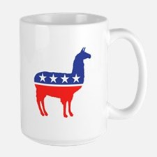 Political Party Llama Mascot Mugs