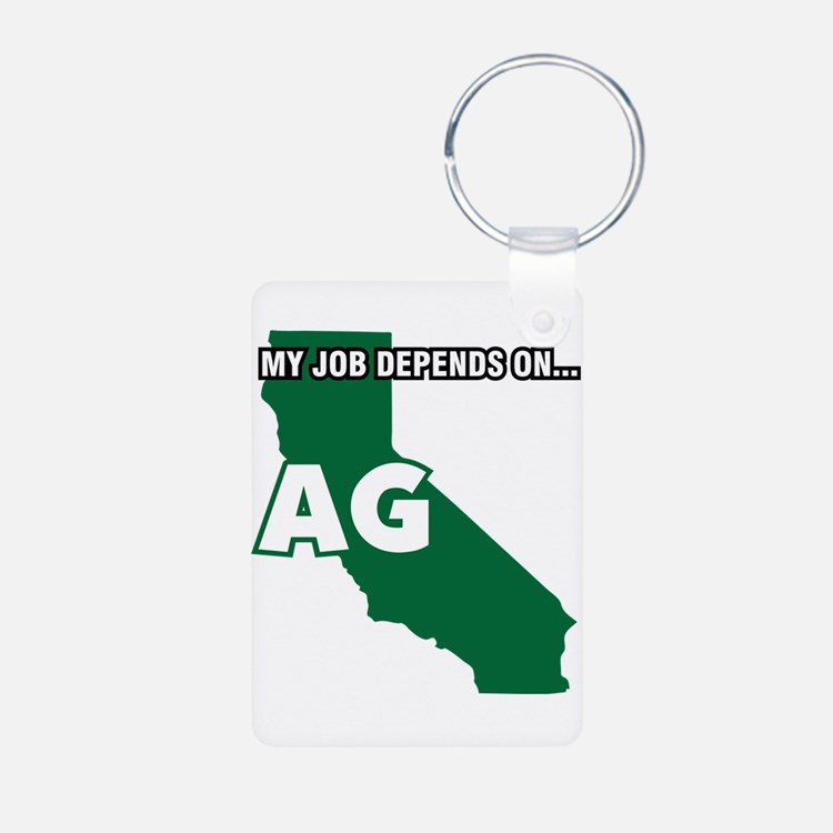 My Job Depends On Ag California Decal Keychains