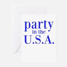 party in the USA Greeting Cards