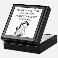 softball Keepsake Box