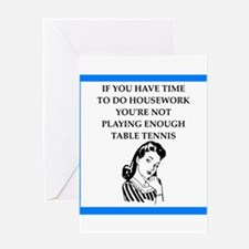 table tennis Greeting Cards