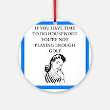golfer Round Ornament