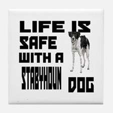 Life Is Safe With A Stabyhoun Dog Des Tile Coaster