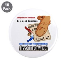 Freedom Political Large Buttons (10 pk)