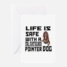 Small Munsterlander Pointer Dog Greeting Card