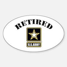 Retired U.S. Army Soldier Sticker (Oval)