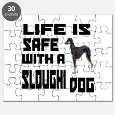 Life Is Safe With A Sloughi Dog Designs Puzzle