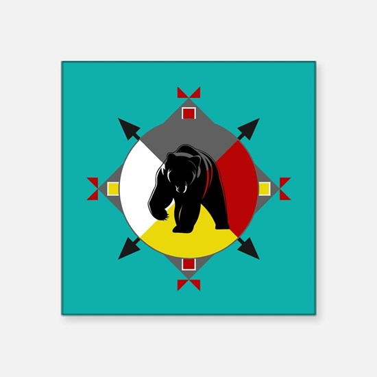 Cherokee Four Directions Bear Sticker