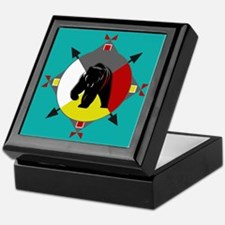 Cherokee Four Directions Bear Keepsake Box