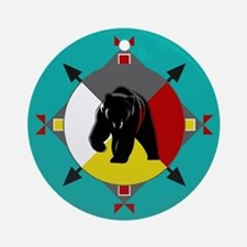 Cherokee Four Directions Bear Round Ornament