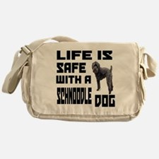 Life Is Safe With A Schnoodle Dog De Messenger Bag