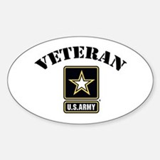 Veteran U.S. Army Sticker (Oval)
