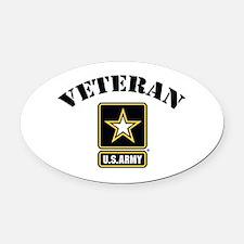 Veteran U.S. Army Oval Car Magnet