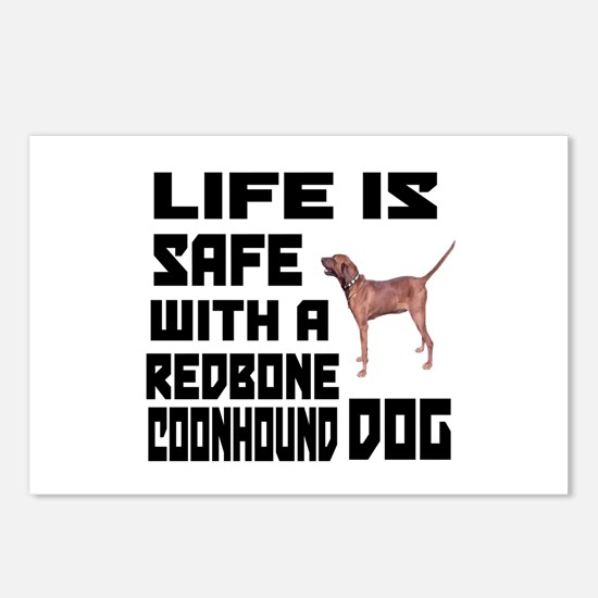 Life Is Safe With A Redbo Postcards (Package of 8)