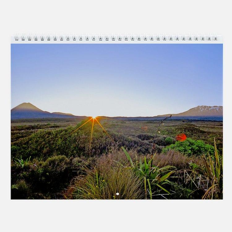 North Island New Zealand Wall Calendar