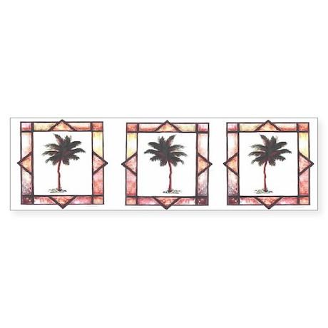 Blue Palms Bumper Sticker