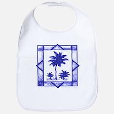 Blue Palms Bib