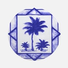 Blue Palms Ornament (Round)